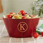Classic Celebrations Personalized Red Bamboo Bowl- Small Monogram - 18689-SM