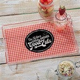 Picnic Plaid Personalized Acrylic Serving Tray - 18691