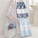 Geometric Pattern Personalized Bath Towel - 18696