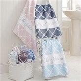 Geometric Pattern Personalized Bath Towel - 18696