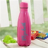 Kids' Stainless Steel Personalized Water Bottle- Raspberry - 18701-R