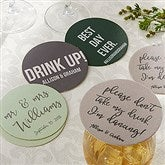 Write Your Own Personalized Wedding Paper Coasters - 18707