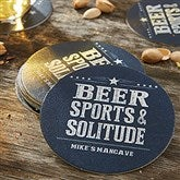 Write His Own Personalized Paper Coasters - 18708