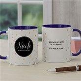 Name Meaning Personalized Geometric Coffee Mug 11 oz.- Blue - 18720-BL