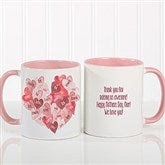 Our Hearts Combined Personalized Coffee Mug 11 oz.- Pink - 18721-P