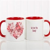 Our Hearts Combined Personalized Coffee Mug 11 oz.- Red - 18721-R