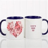 Our Hearts Combined Personalized Coffee Mug 11 oz.- Blue - 18721-BL