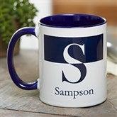 Initials Personalized Coffee Mug 11 oz.- Blue - 18740-BL