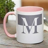 Initials Personalized Coffee Mug 11 oz.- Pink - 18740-P