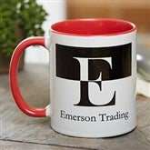 Initials Personalized Coffee Mug 11 oz.- Red - 18740-R