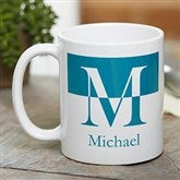 Initials Personalized Coffee Mug 11 oz.- White - 18740-W