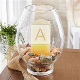 Classic Celebrations Engraved Hurricane Candle Holder-Monogram - 18741-M
