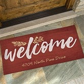 Cozy Home Personalized Oversized Doormat- 24x48 - 18743-O