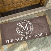 Circle & Vine Monogram Personalized Oversized Doormat- 24x48 - 18744-O