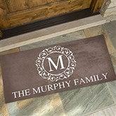 Circle & Vine Monogram Personalized Oversized Doormat- 24x48 - 18744-O