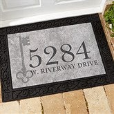 House Key Personalized Address Doormat- 18x27 - 18745