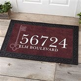 House Key Personalized Address Doormat- 20x35 - 18745-M