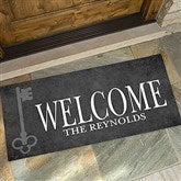 House Key Personalized Oversized Address Doormat- 24x48 - 18745-O