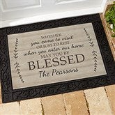 May You Be Blessed Personalized Doormat- 18x27 - 18746