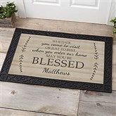 May You Be Blessed Personalized Medium Doormat- 20x35 - 18746-M