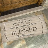 May You Be Blessed Personalized Oversized Doormat- 24x48 - 18746-O