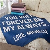 Romantic Expressions Personalized Premium 60x80 Sherpa Blanket - 18749-L