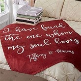Romantic Expressions Personalized 60x80 Fleece Blanket - 18751-L