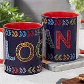 Stencil Name Personalized Coffee Mug 11 oz.- Red - 18752-R