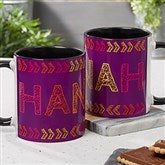 Stencil Name Personalized Coffee Mug 11 oz.- Black - 18752-B