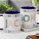 Stencil Name Personalized Coffee Mug 11 oz.- Blue - 18752-BL