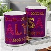 Stencil Name Personalized Coffee Mug 15 oz.- White - 18752-L