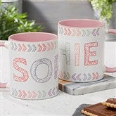 Stencil Name Personalized Coffee Mug 11 oz.- Pink - 18752-P