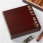 Bold Style Personalized Cherry Wood Cigar Humidor 20 Count - 18758