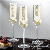 Luigi Bormioli® Write Your Own Personalized Modern Champagne Flute - 18764