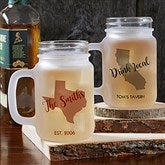 State Pride Personalized Frosted Mason Jar - 18773