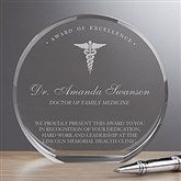 Medical Profession Round Crystal Personalized Award - 18780