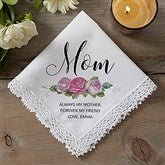 Floral Mom Personalized Handkerchief - 18789