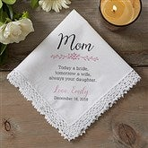 Mother of the Bride Personalized Wedding Handkerchief - 18790