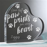 Paw Prints On My Heart Personalized Heart Keepsake - 18794