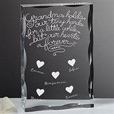 Grandchildren Fill Our Hearts Personalized Keepsake - 18797