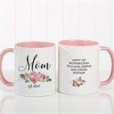 New Mom Personalized Floral Coffee Mug 11 oz.- Pink - 18818-P