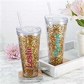 Glitter & Gold Personalized 22oz. Tumbler - 18821-T