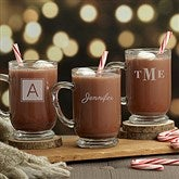 Classic Holiday Celebrations Personalized Glass Coffee Mug - 18827