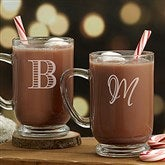 Classic Celebrations Personalized Glass Coffee Mug- Monogram - 18827-M