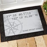 Latitude & Longitude Personalized Doormat-18x27 - 18831