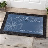 Latitude & Longitude Personalized Doormat-20x35 - 18831-M