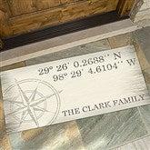 Latitude & Longitude Personalized Oversized Doormat- 24x48 - 18831-O