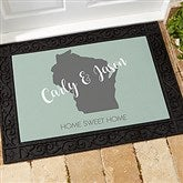 State Pride Personalized Doormat-18x27 - 18832