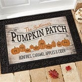 Pumpkin Patch Personalized Doormat-18x27 - 18833