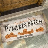 Pumpkin Patch Personalized Oversized Doormat- 24x48 - 18833-O